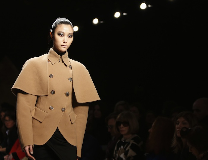 A model presents creation from Donna Karan Autumn/Winter 2013 collection during New York Fashion Week in New York