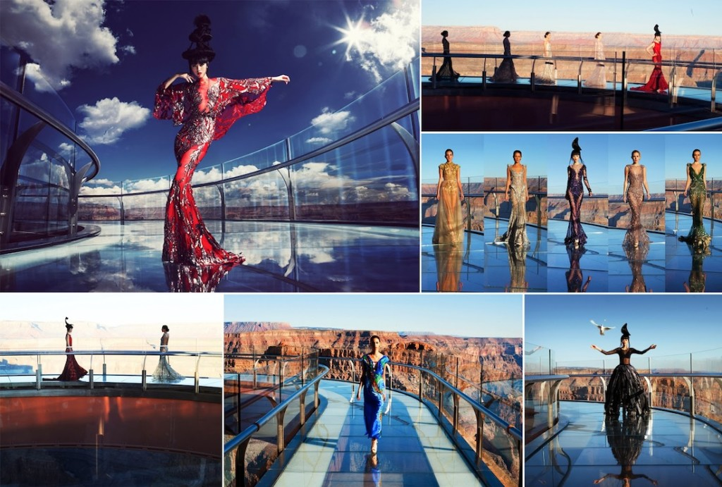 J Autumn Fashion Show on Grand Canyon Skywalk by Jessica Minh Anh
