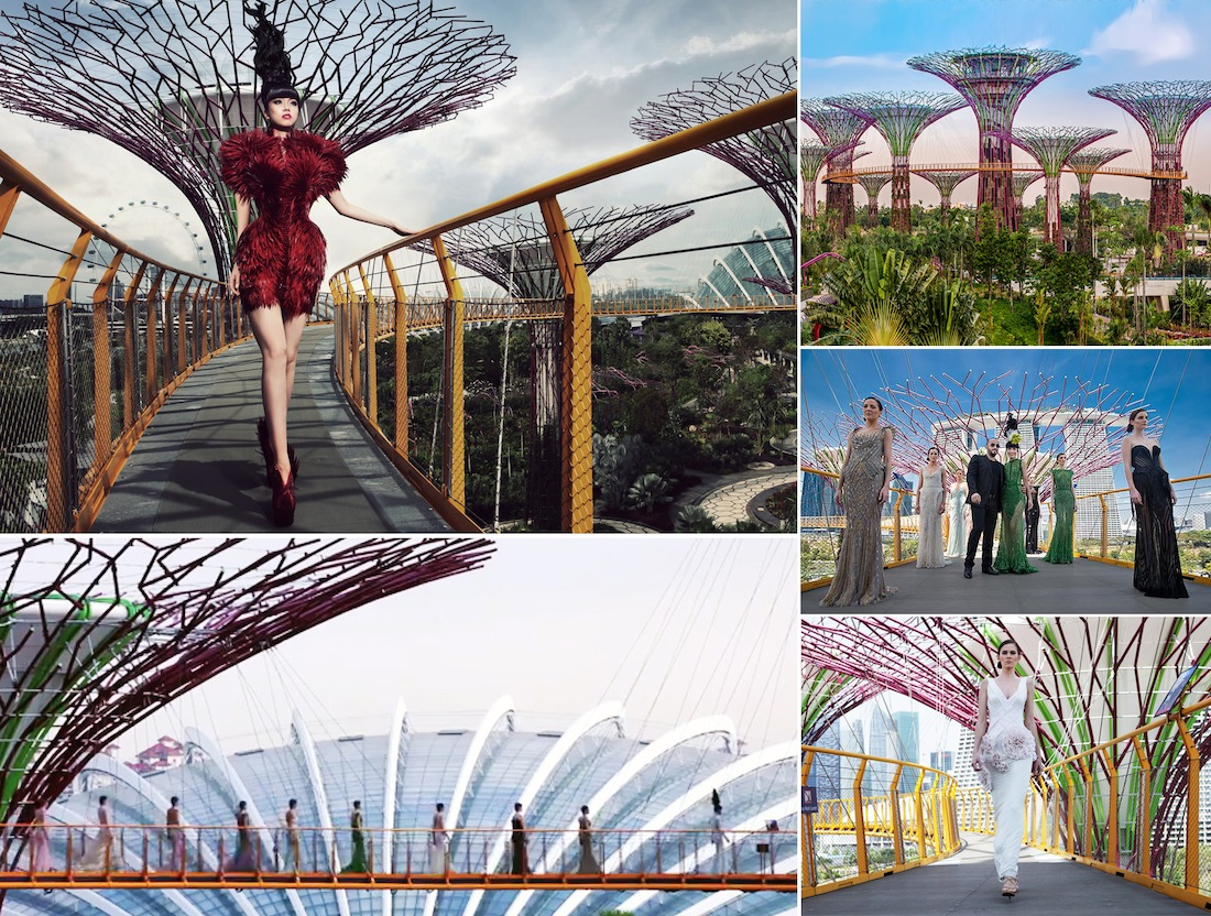 J Spring Fashion Show onGardens by the Bay's OCBC Skyway