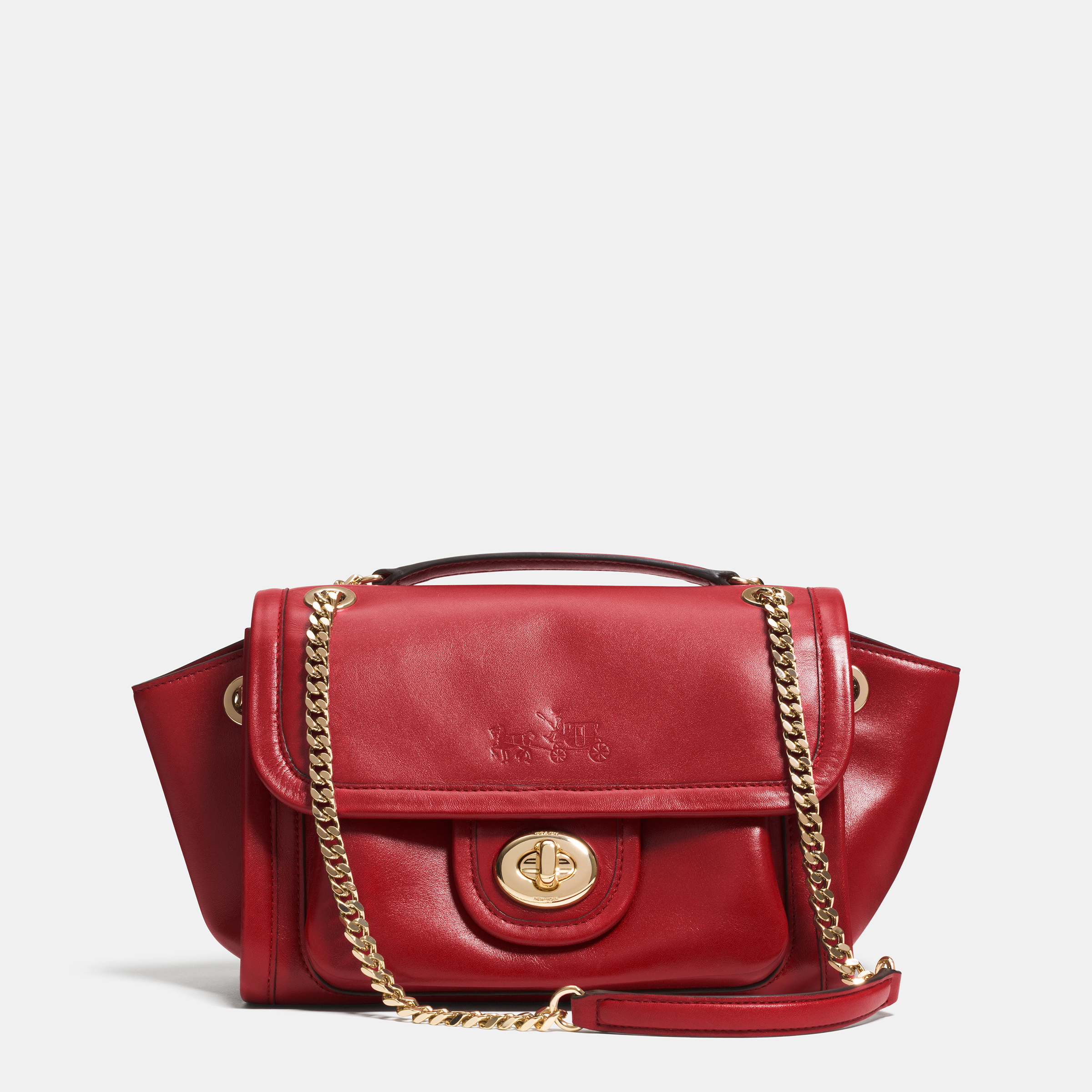Calf Ranger Flap Crossbody - Red