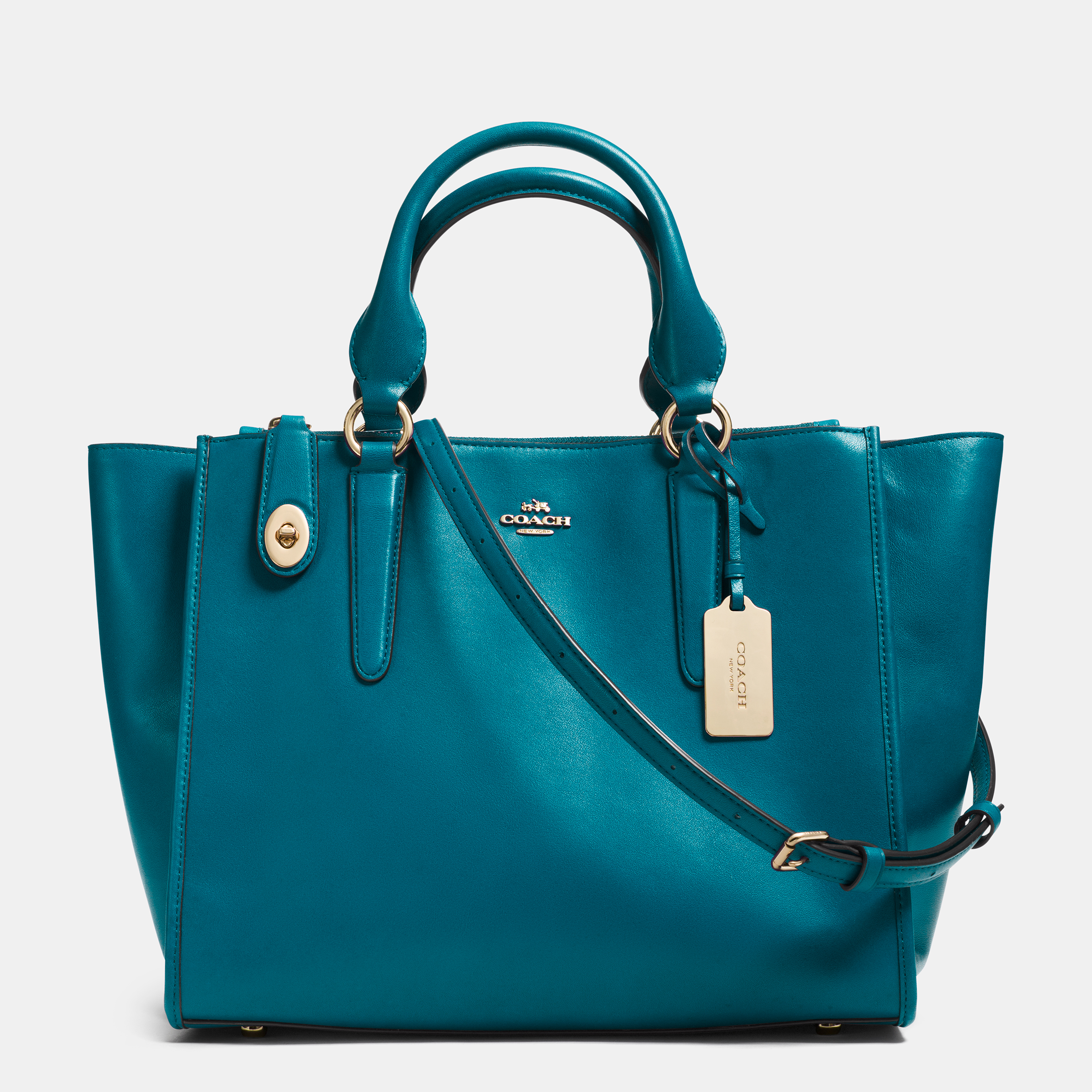 Leather Crosby Carryall - Teal