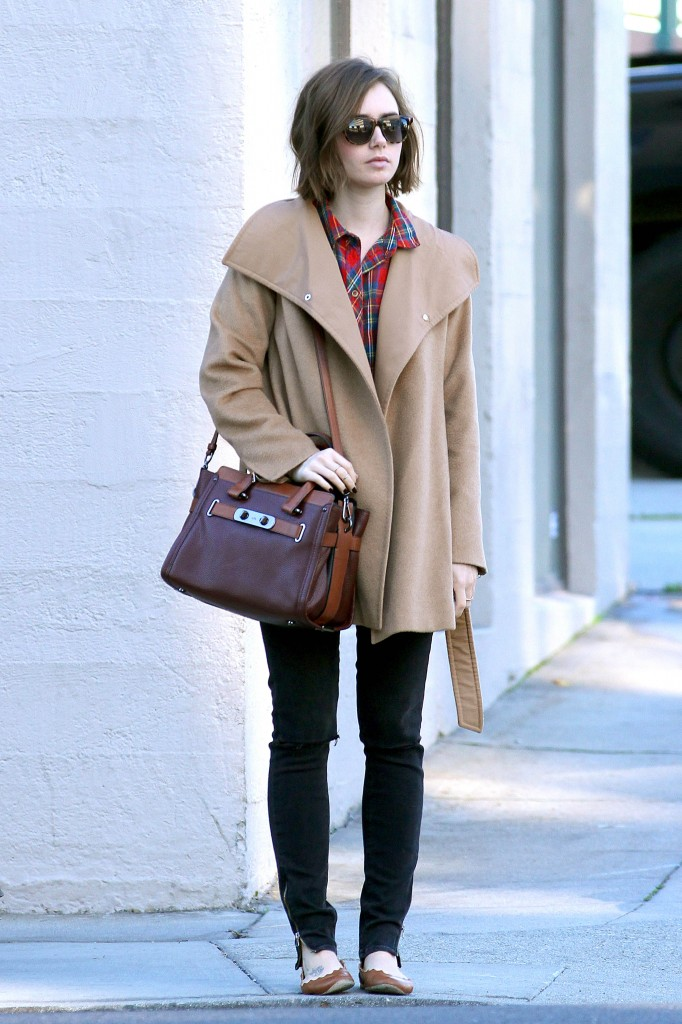 *EXCLUSIVE* Lily Collins runs errands in style