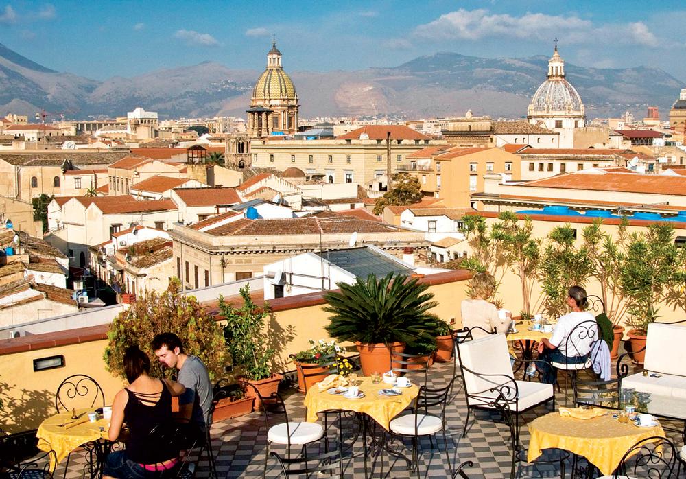 Ngắm cảnh thành phố Palermo từ trên cao