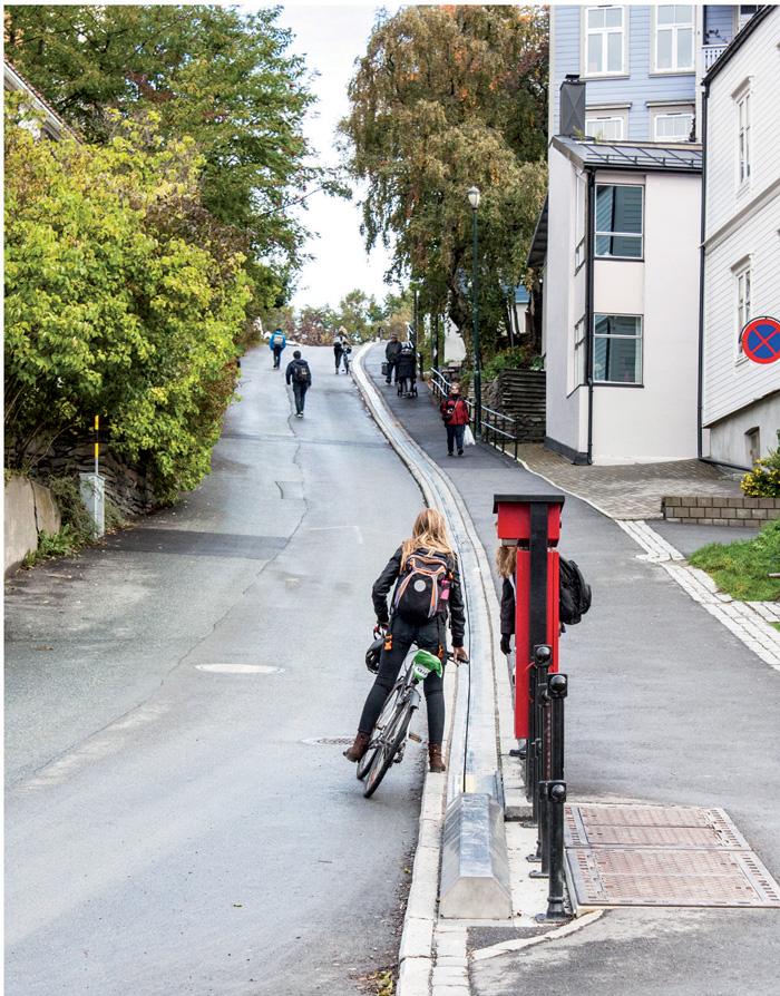 Xe đạp là phương tiện giao thông phổ biến ở Trondheim