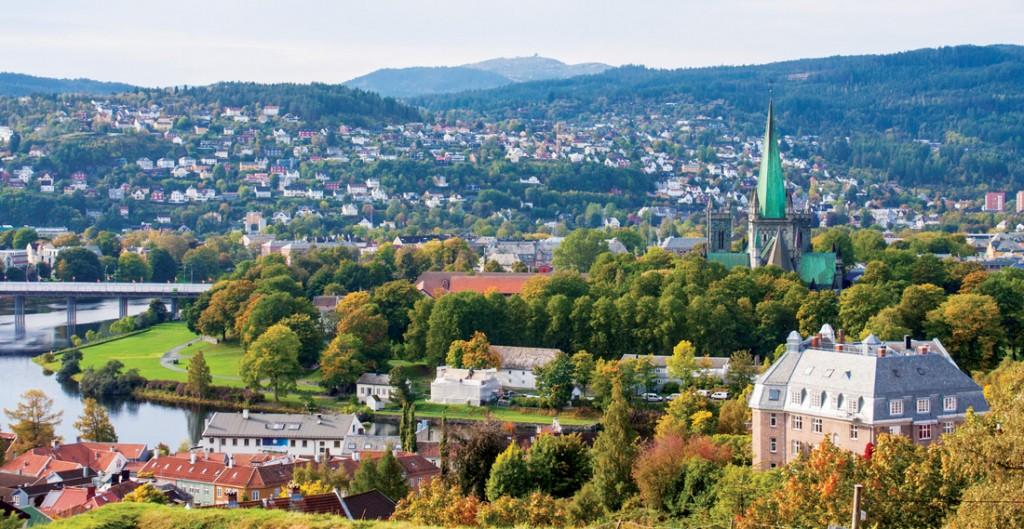 Cảnh thành phố nhìn từ pháo đài Kristiansten