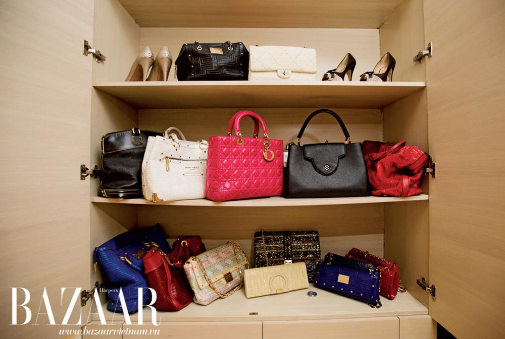 Một phần bộ sưu tập túi của chị Hà