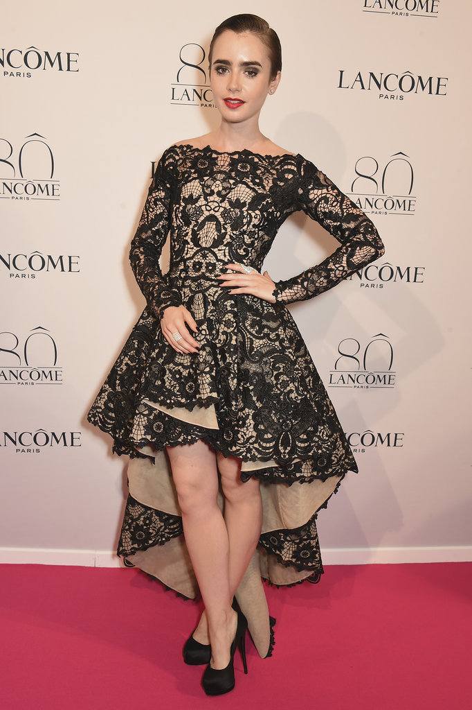 Lily-Collins-Lancome-80th-Anniversary-Party