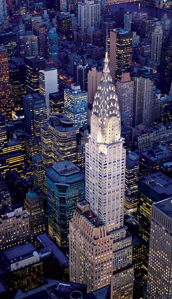 Tòa nhà Chrysler huyền thoại là một trong những công trình kiến trúc mang phong cách Art Deco tiêu biểu