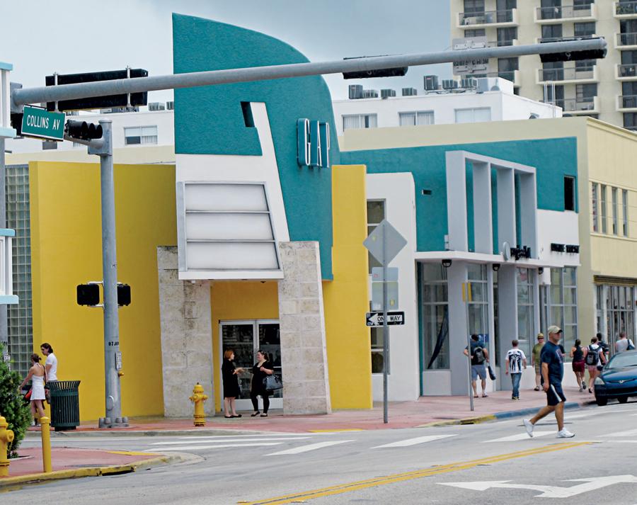 Một cửa hàng của Gap tại Miami, Mỹ, xây dựng theo phong cách Art Deco