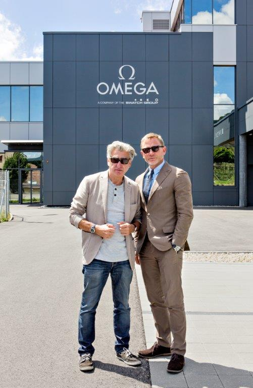 Nick Hayek and Daniel Craig are seen at the OMEGA Factory Visit in Switz...