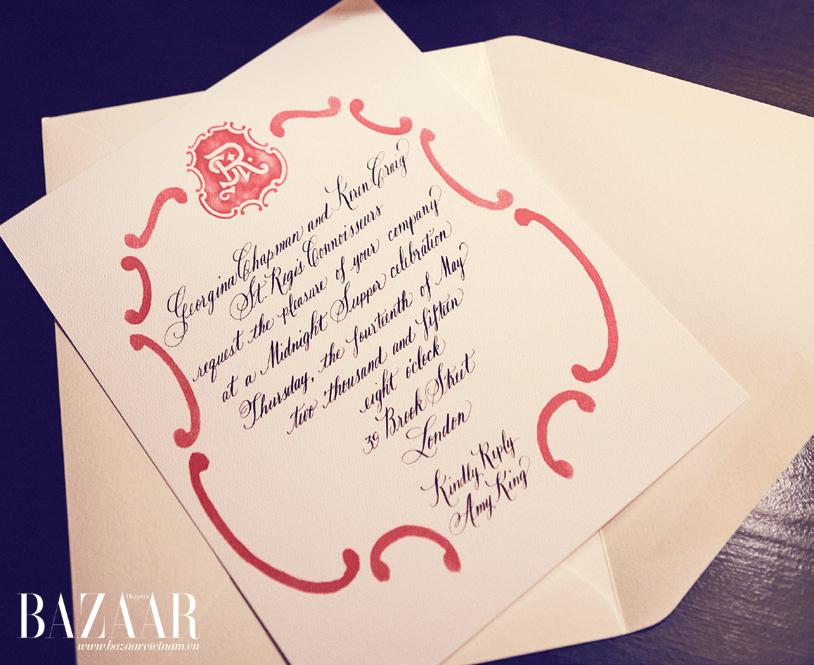 Thiệp mời phong cách viết tay