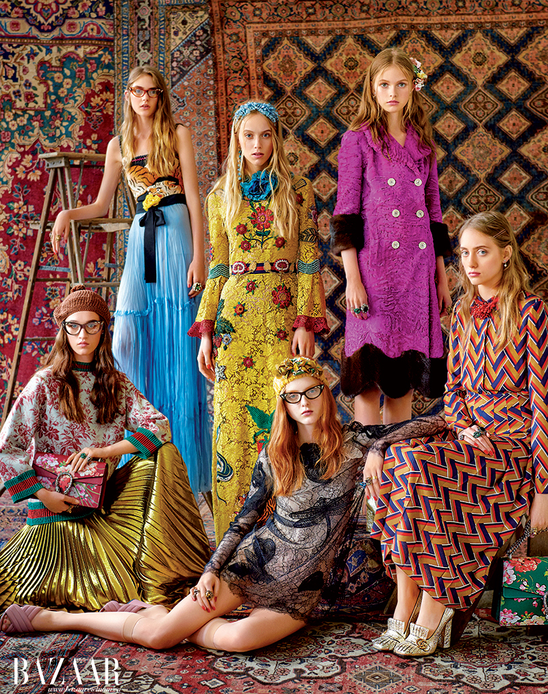 Các trang phục và phụ kiện thuộc bộ sưu tập Gucci Cruise 2016