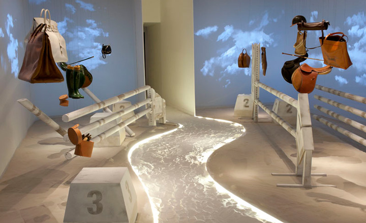 Hermes-Leather-Forever-exhibition-equestrian-themed-room