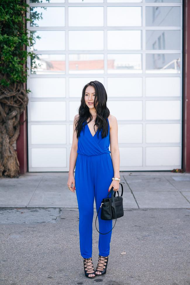 charlotte-russe-blue-jumpsuit-cobalt-jumper-spring-trends-2014-san-francisco-street-style-2