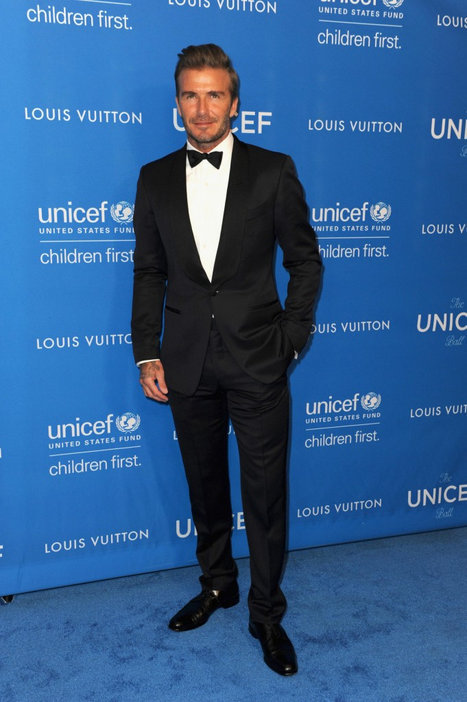 David Beckham mặc suit của Louis Vuitton