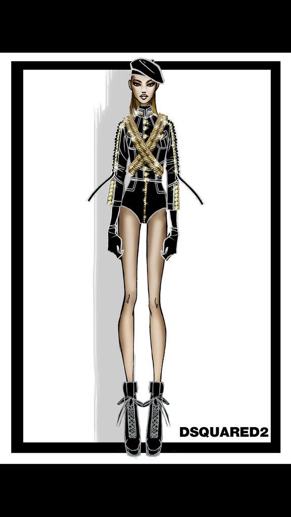 Designer-Sketch-Beyoncés-Performance-Outfit