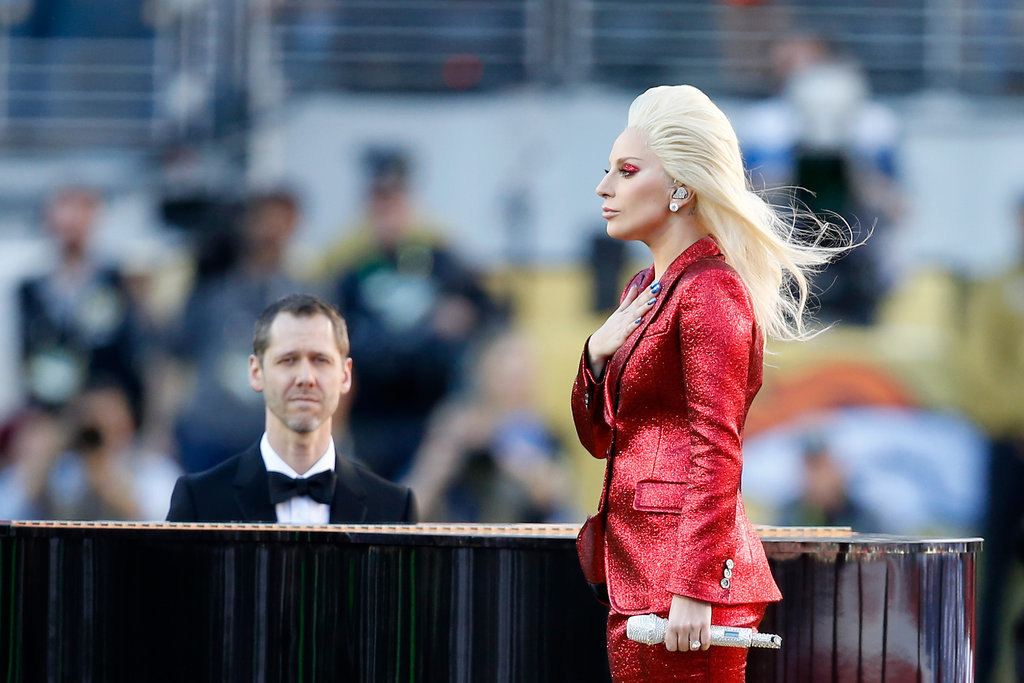 Lady-Gaga-Red-Gucci-Suit-Super-Bowl (9)