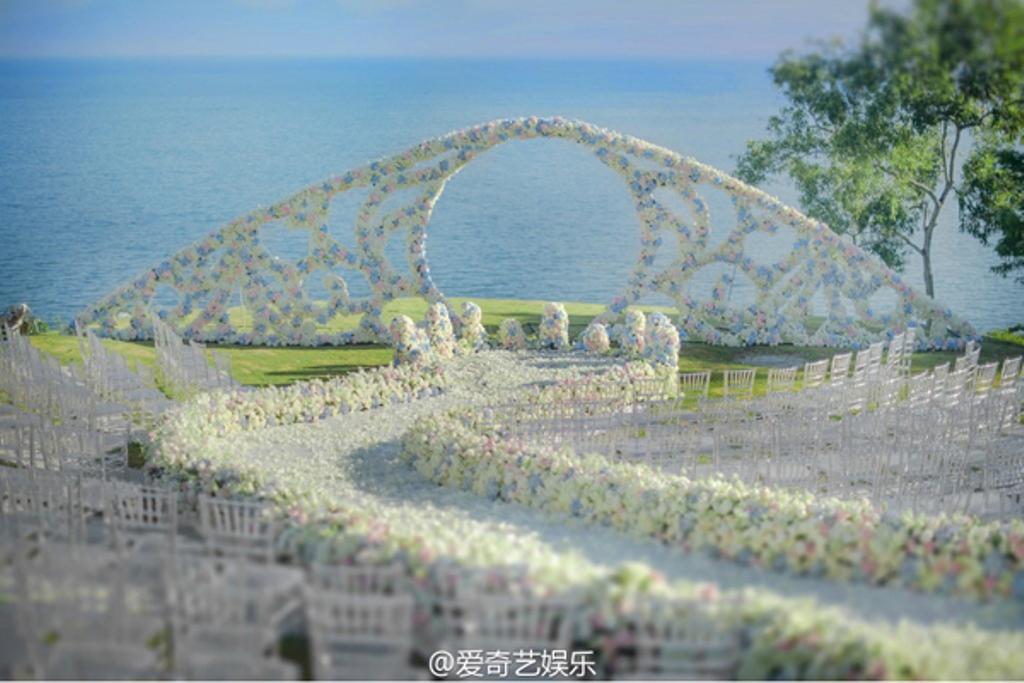 Buổi lễ ở cạnh bãi biển