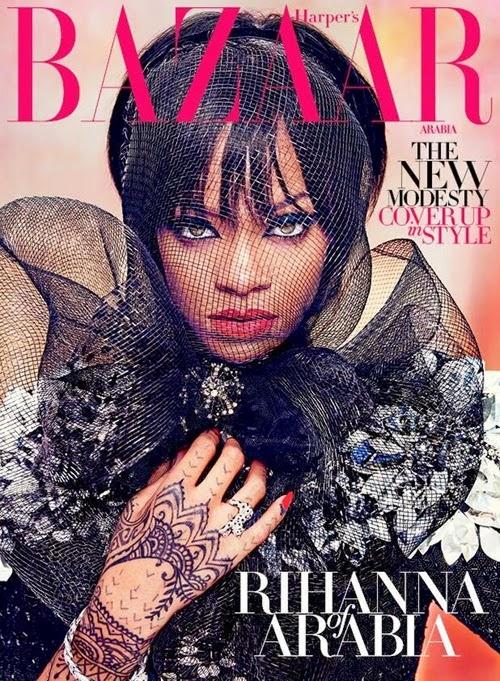 Rihanna trên bìa Bazaar Arabia