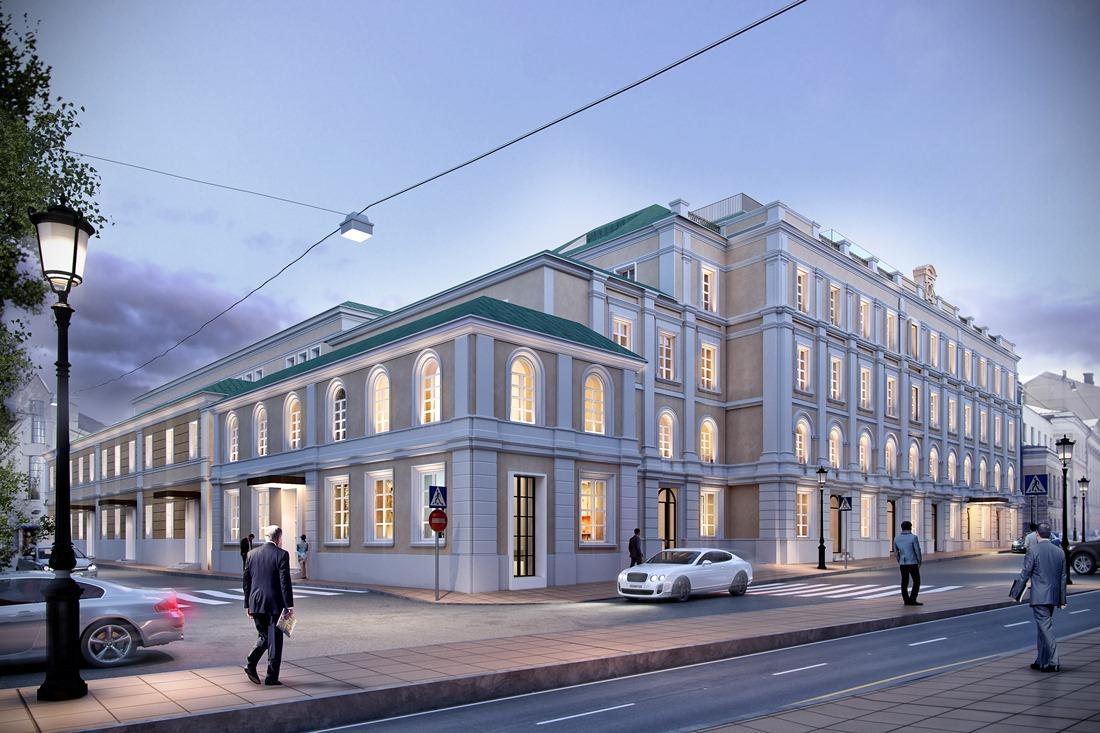 Kiến trúc bên ngoài của dự án khách sạn tại Moscow
