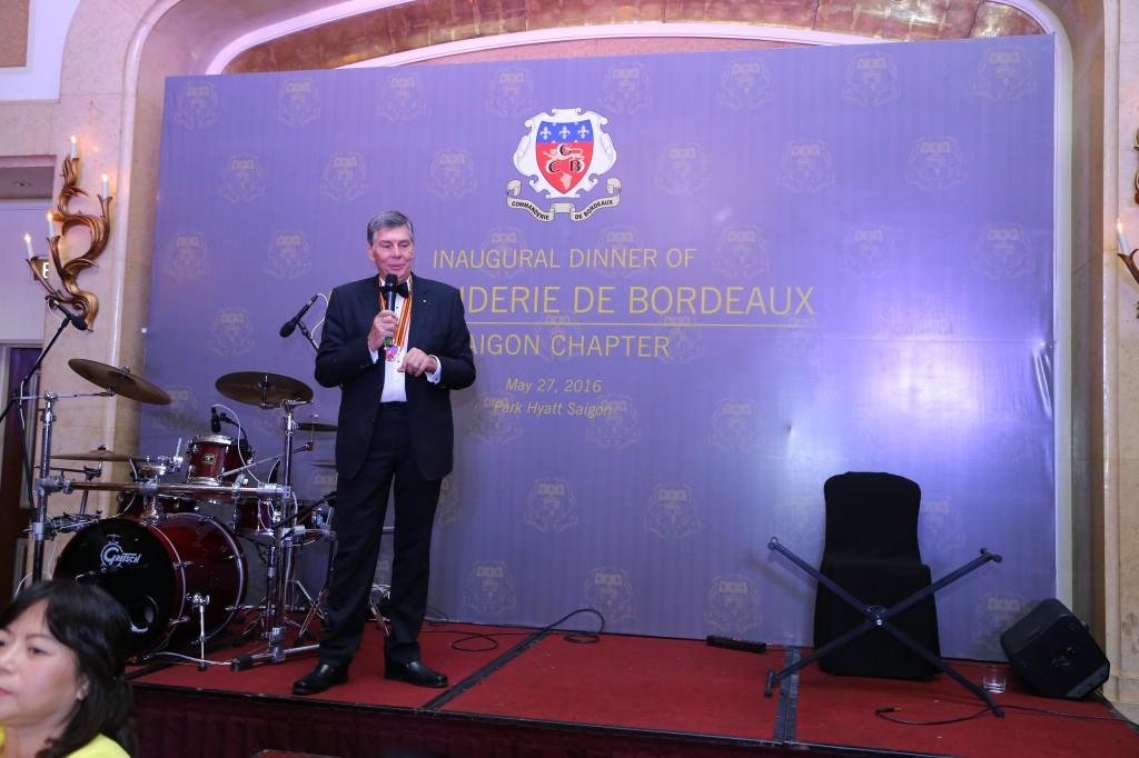 Ông Alain Cany - Chủ tịch Commanderie de Bordeaux tại Sài Gòn