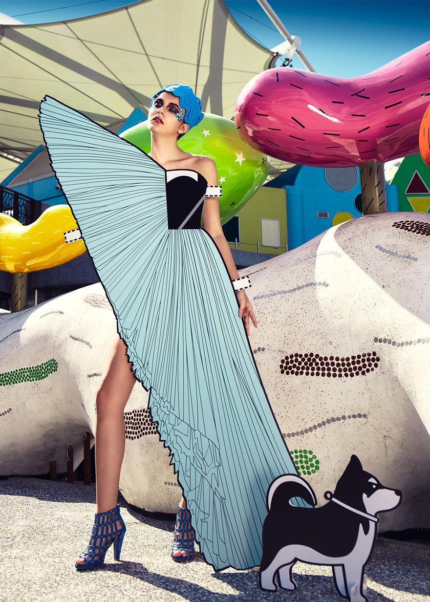Trang phục giấy lấy cảm hứng từ thiết kế của Viktor & Rolf mùa Xuân 2010 Ready to wear