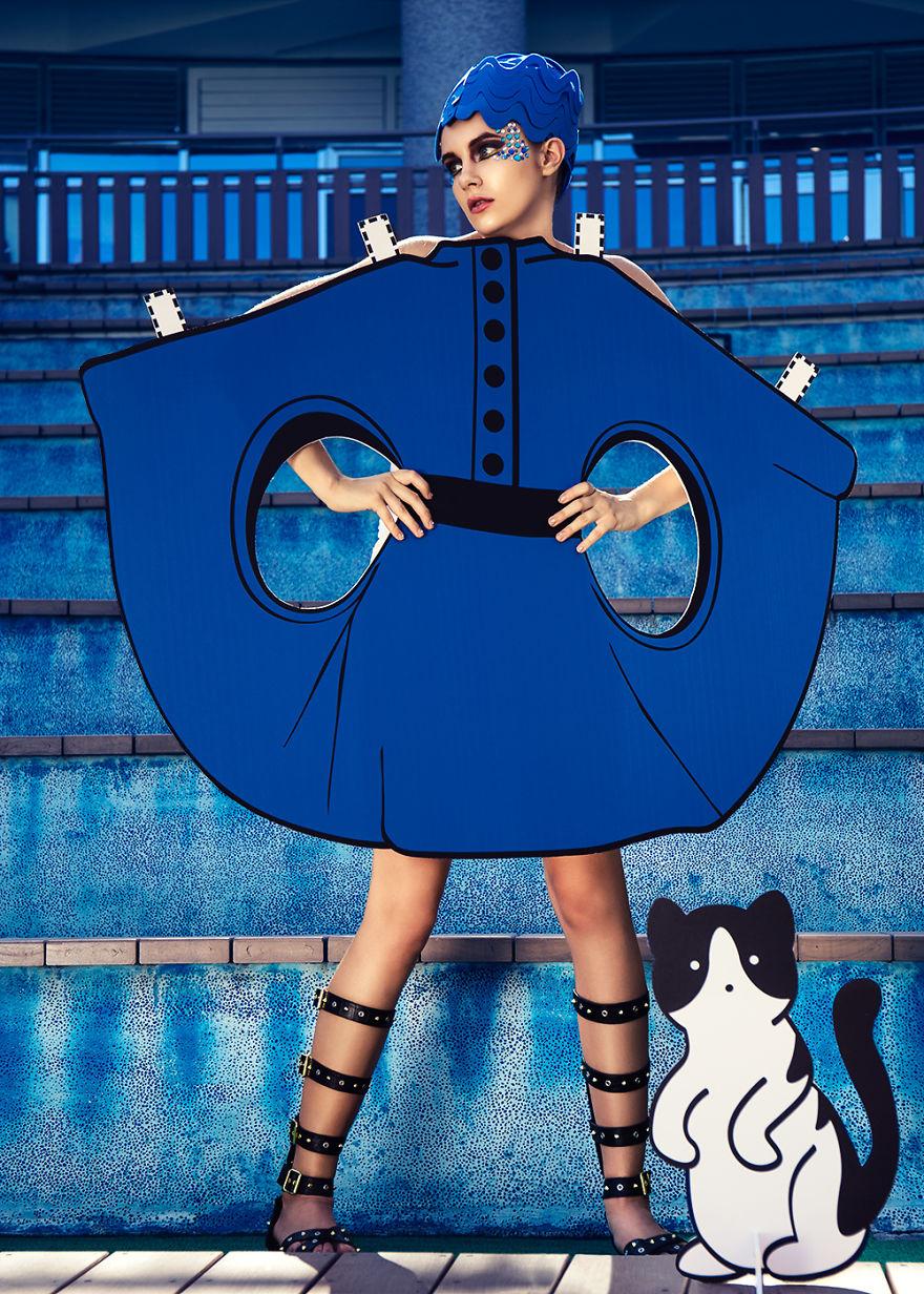 Pierre Cardin Show diễn Space Age Fashion trong những năm 1960