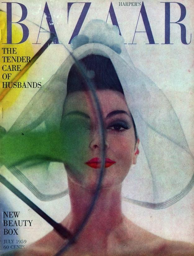 Bìa Harper's Bazaar Mỹ 1959 của bà Carmen Dell'Orefice