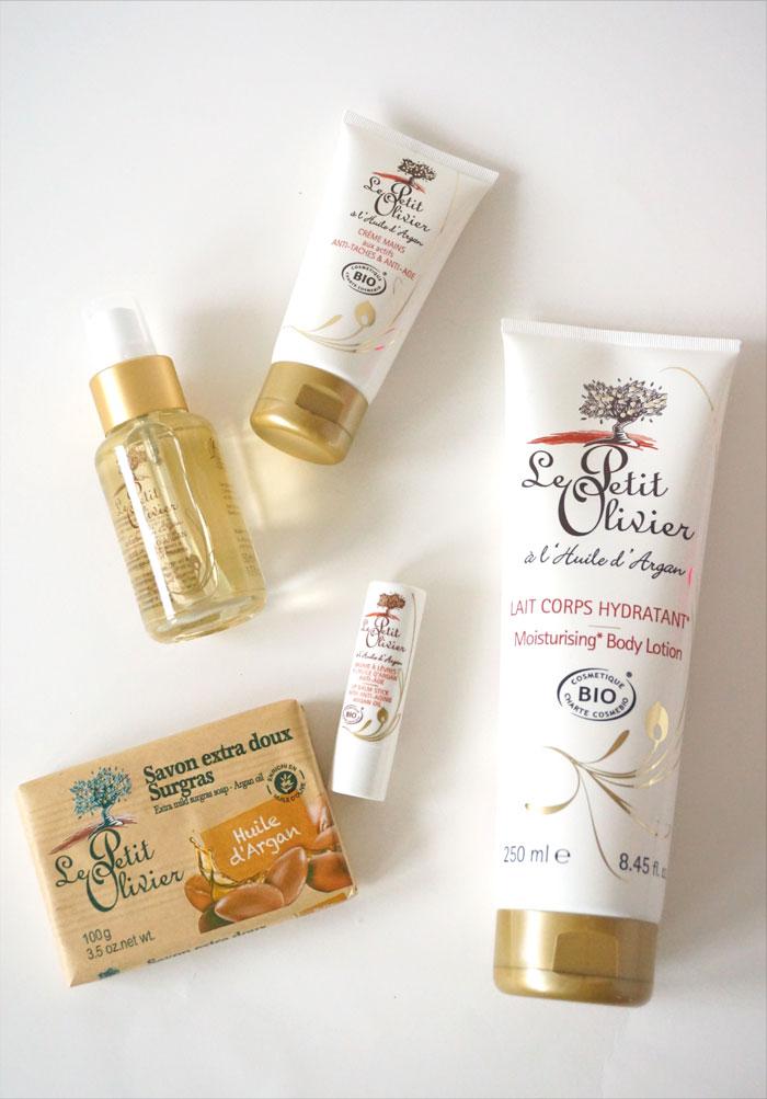 Các sản phẩm dưỡng da và dưỡng thể của hãng Le Petit Olivier đều được điều chế từ dầu argan hữu cơ
