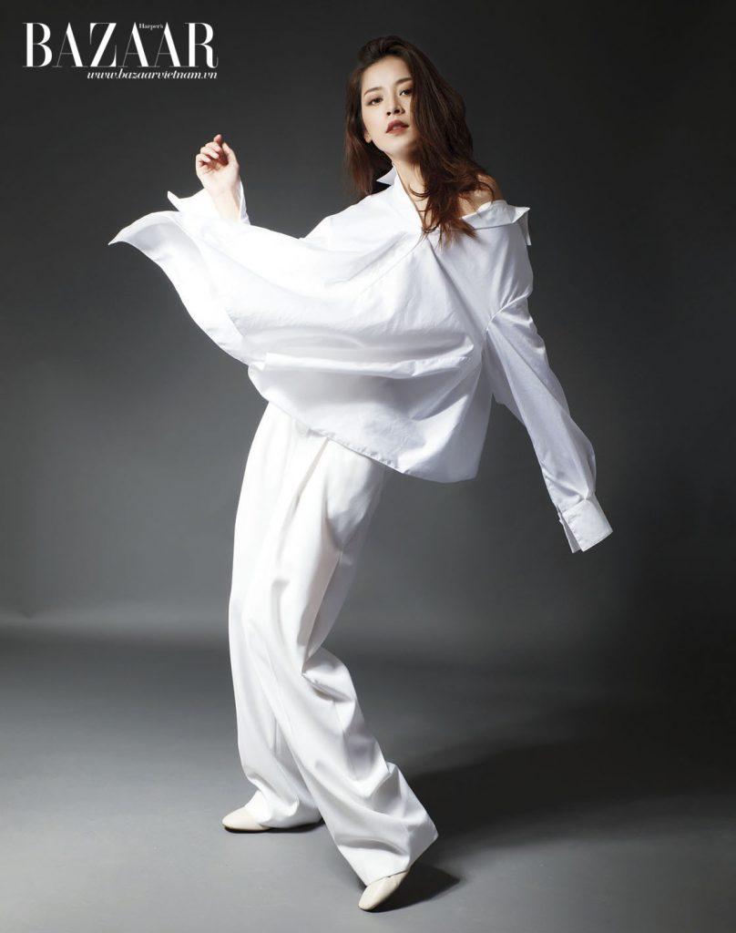 Chi Pu trong trang phục của Đặng Hải Yến