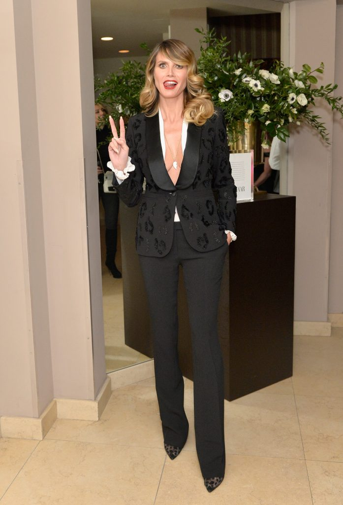 WEST HOLLYWOOD, CA - JANUARY 27: Heidi Klum attends Harpers BAZAAR celebration of the 150 Most Fashionable Women presented by TUMI in partnership with American Express, La Perla and Hearts On Fire at Sunset Tower Hotel on January 27, 2017 in West Hollywood, California. (Photo by Stefanie Keenan/Getty Images for Harper's Bazaar)