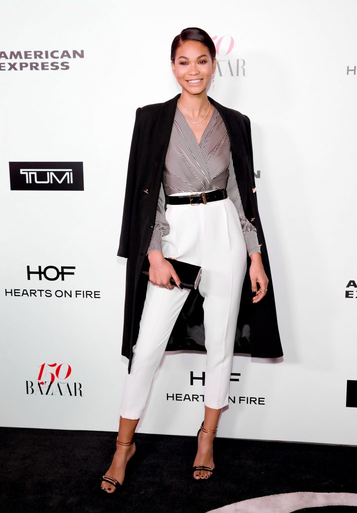 WEST HOLLYWOOD, CA - JANUARY 27: Chanel Iman attends Harper's BAZAAR celebration of the 150 Most Fashionable Women presented by TUMI in partnership with American Express, La Perla, and Hearts On Fire at Sunset Tower Hotel on January 27, 2017 in West Hollywood, California. (Photo by Rachel Murray/Getty Images for Harper's Bazaar)