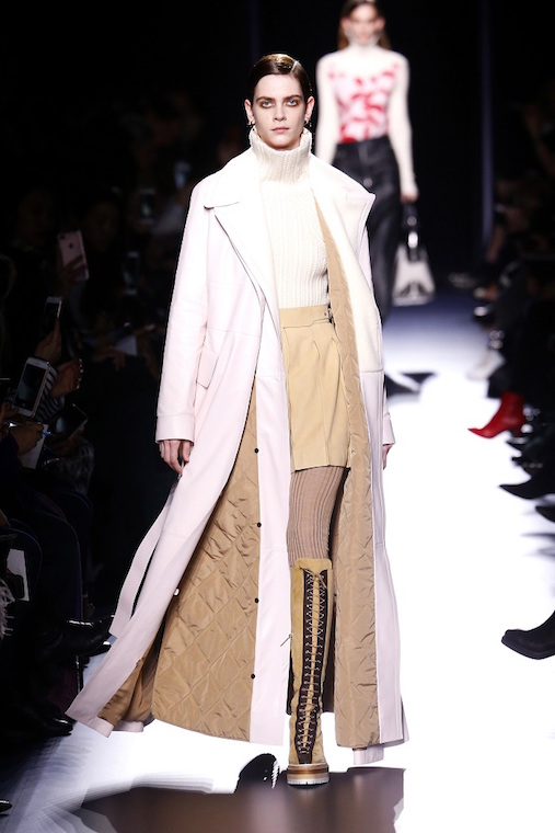 PARIS, FRANCE - MARCH 6: A model walks the runway during the Hermes designed by Nadège Vanhee-Cybulski show as part of the Paris Fashion Week Womenswear Fall/Winter 2017/2018 on March 6, 2017 in Paris, France. (Photo by Estrop/Getty Images)