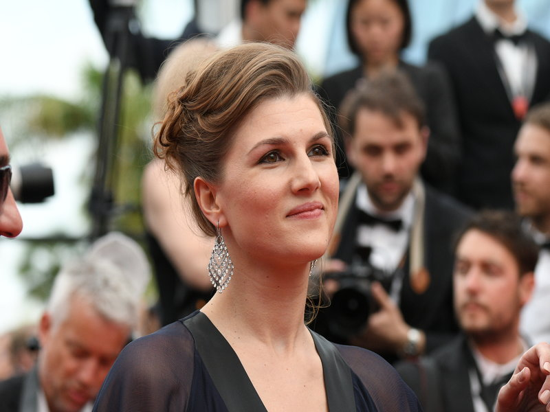 """attends the """"Loveless (Nelyubov)"""" screening during the 70th annual Cannes Film Festival at Palais des Festivals on May 18, 2017 in Cannes, France."""