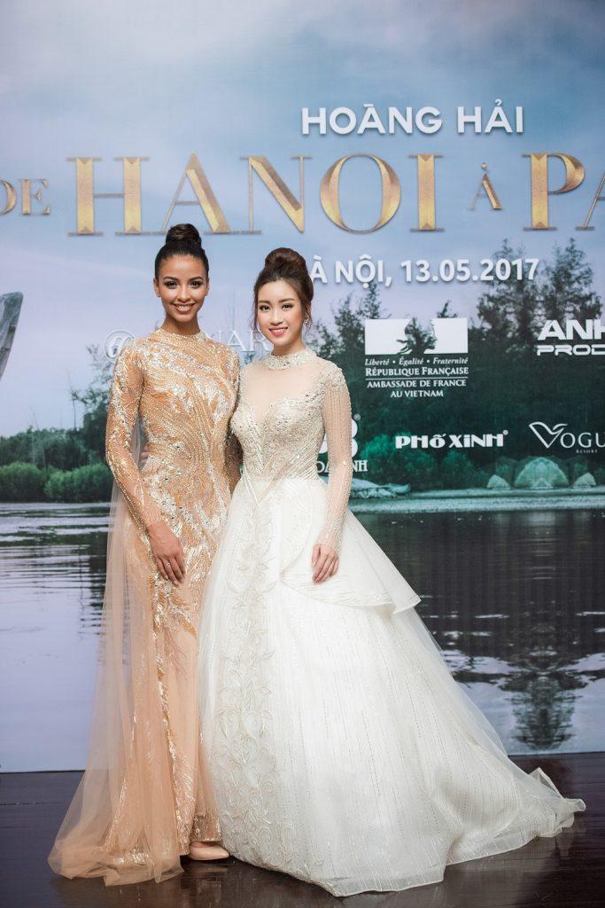 Hoa hậu Pháp Flora và Hoa hậu Đỗ Mỹ Linh