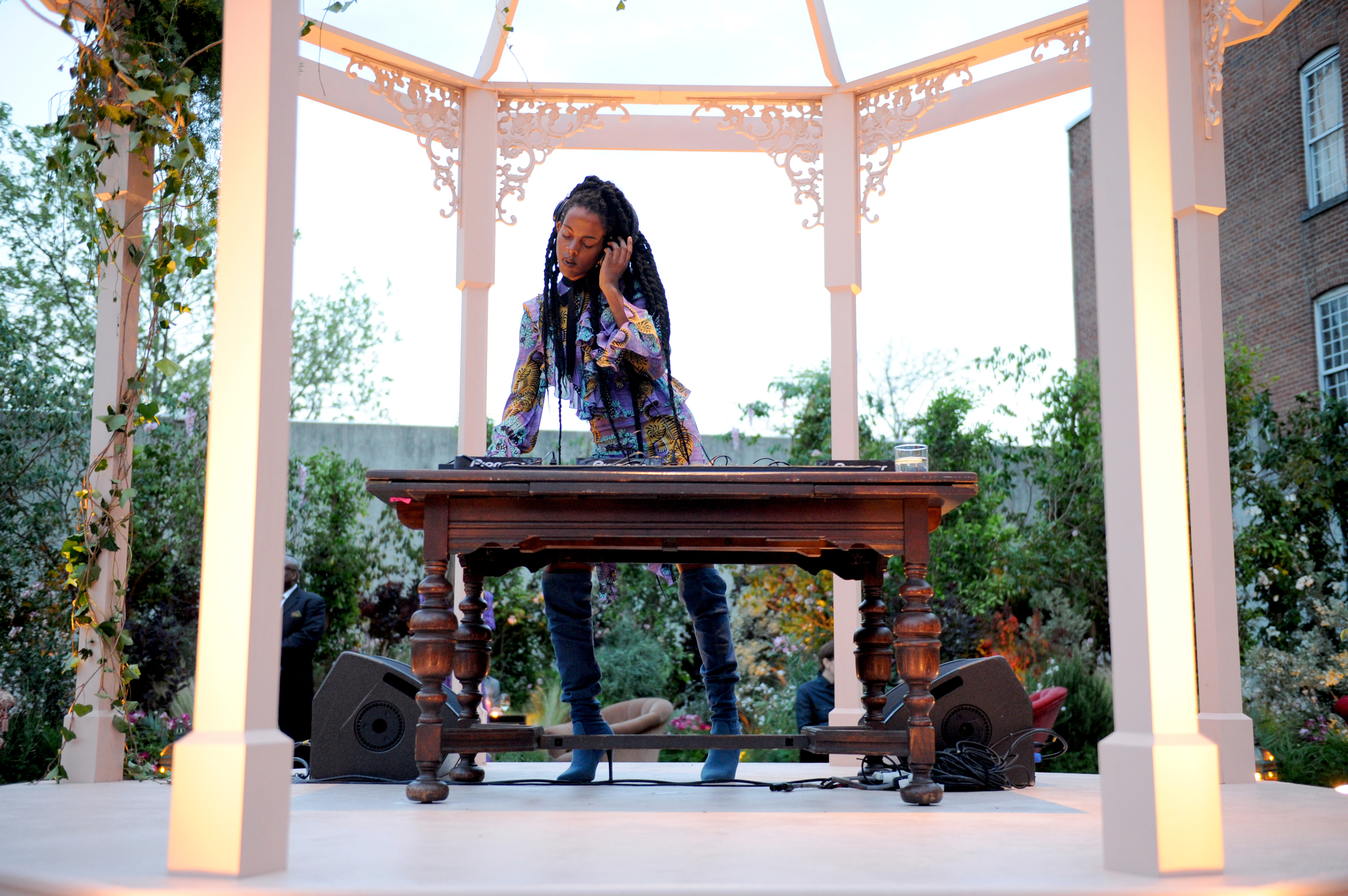 NEW YORK, NY - MAY 02: DJ Juliana performs onstage at the Gucci Bloom Fragrance Launch at MoMA PS.1 on May 2, 2017 in New York City. (Photo by Craig Barritt/Getty Images for Gucci)
