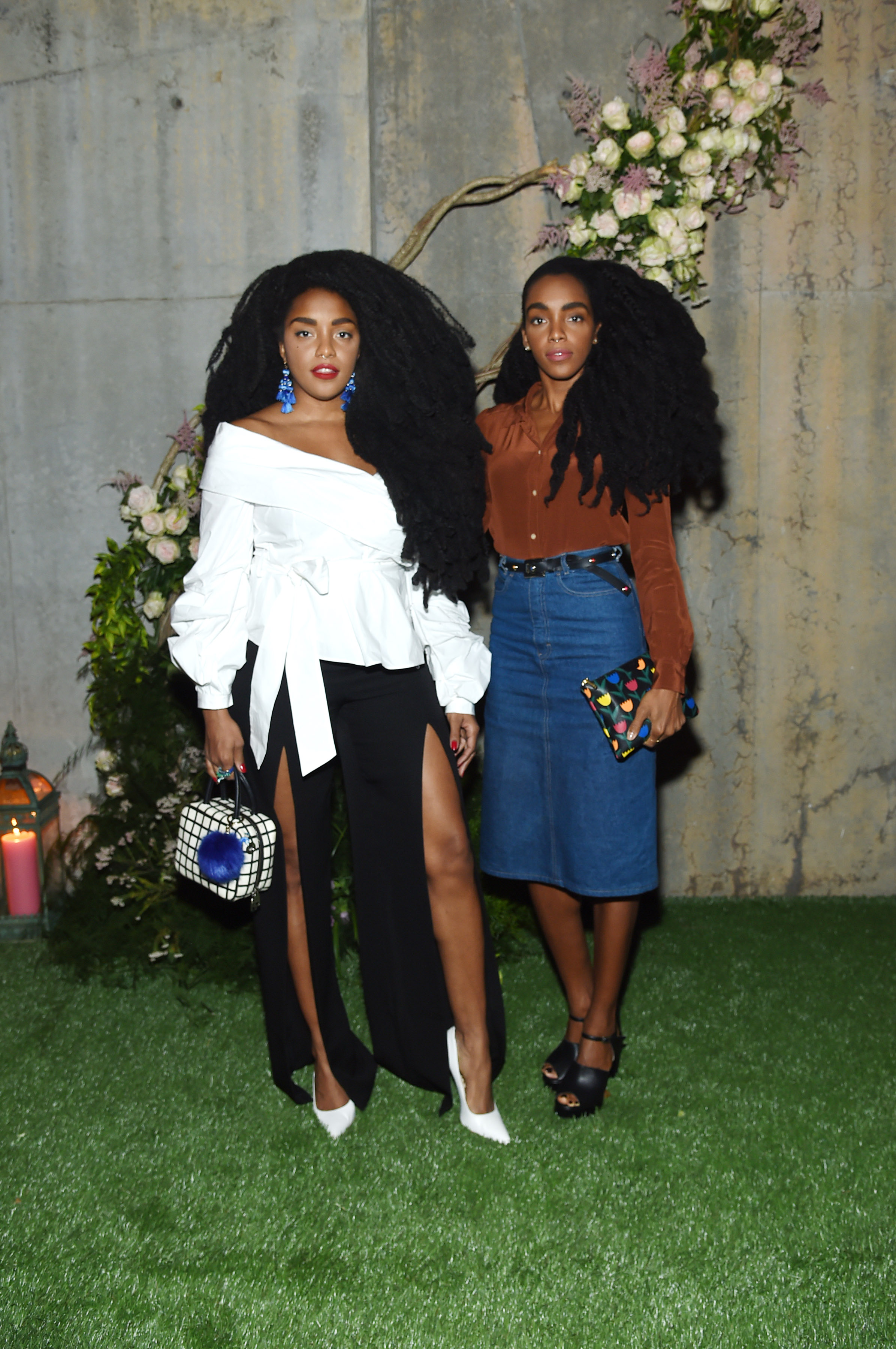 NEW YORK, NY - MAY 02: Models Cipriana Quann and TK Quann attend the Gucci Bloom Fragrance Launch at MoMA PS.1 on May 2, 2017 in New York City. (Photo by Jamie McCarthy/Getty Images for Gucci)