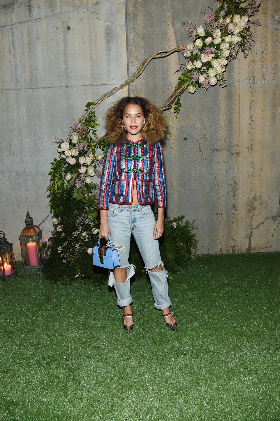 NEW YORK, NY - MAY 02: Cleo Wade attends the Gucci Bloom Fragrance Launch at MoMA PS.1 on May 2, 2017 in New York City. (Photo by Jamie McCarthy/Getty Images for Gucci)