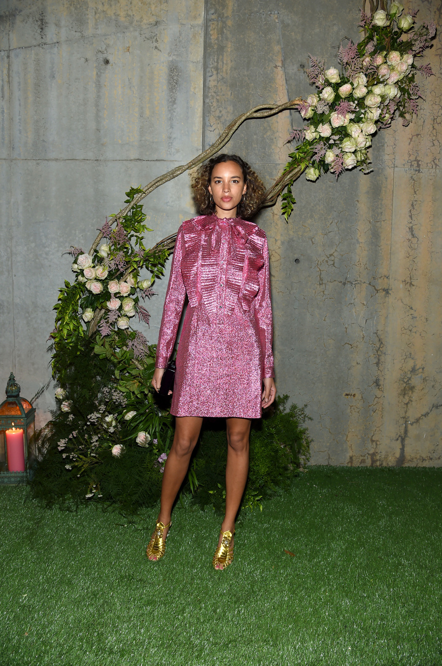 NEW YORK, NY - MAY 02: Phoebe Collings-James attends the Gucci Bloom Fragrance Launch at MoMA PS.1 on May 2, 2017 in New York City. (Photo by Jamie McCarthy/Getty Images for Gucci)