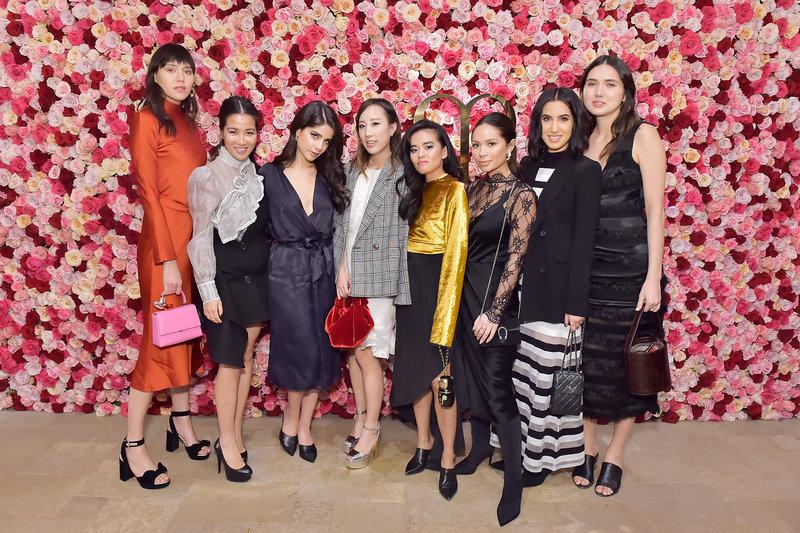 Từ trái qua: Natalie Lim Suarez, Wendy Nguyen, Lainy Hedaya, Erica Choi, Olivia Lopez, Marianna Hewitt, Tania Sarin và Dylana Suarez