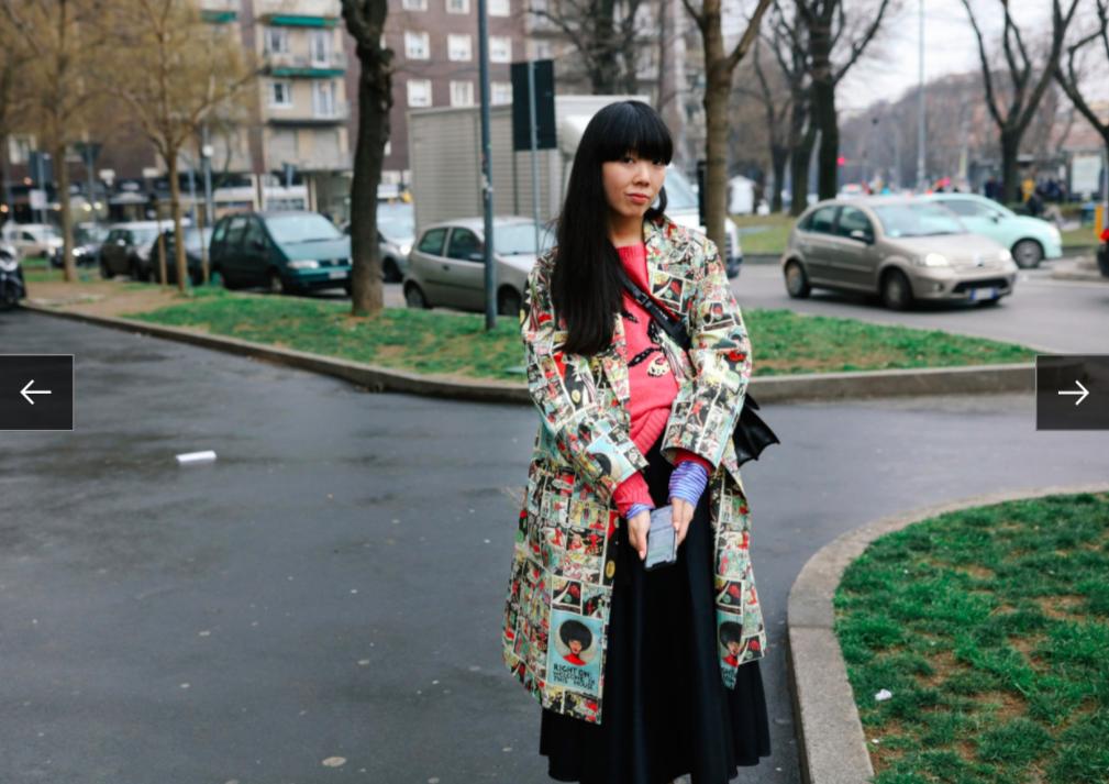 Susie Lau trong trang phục Prada