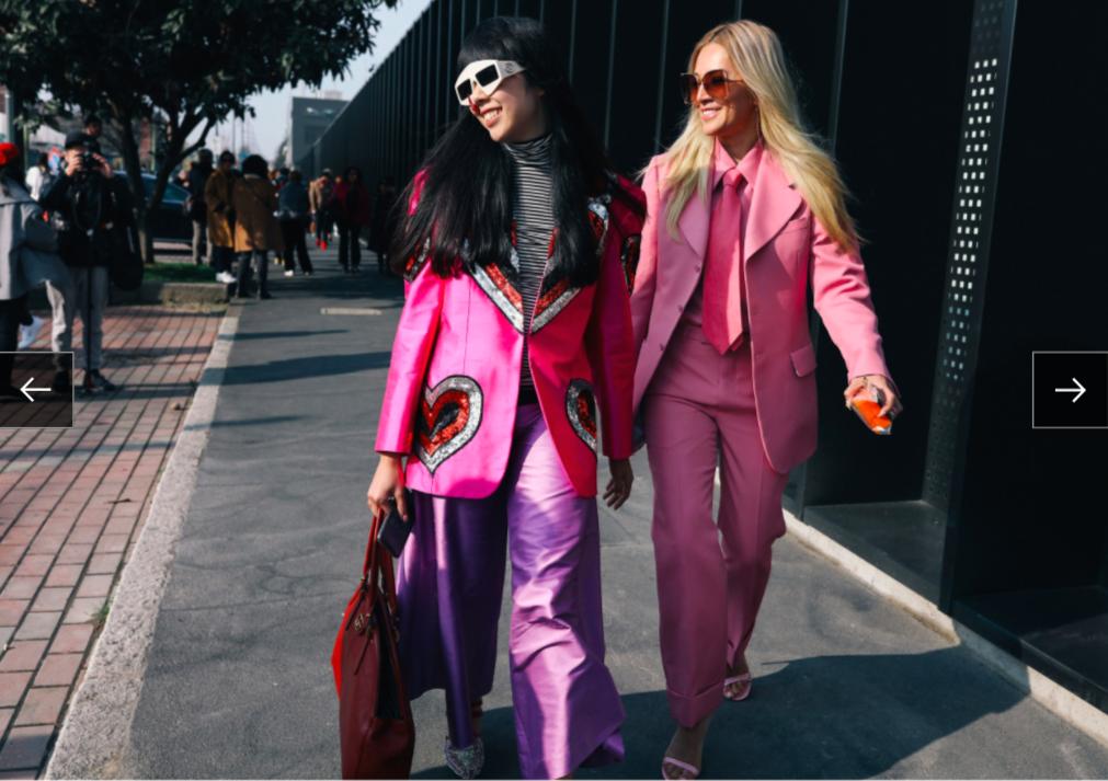 Susie Lau và Tina Leung trong trang phục Gucci