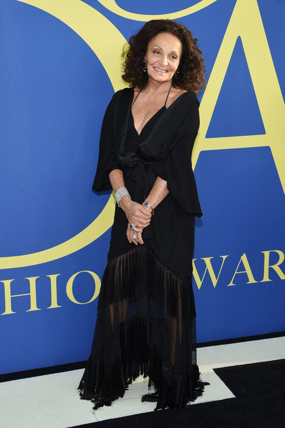 Nhà thiết kế Diane von Furstenberg.