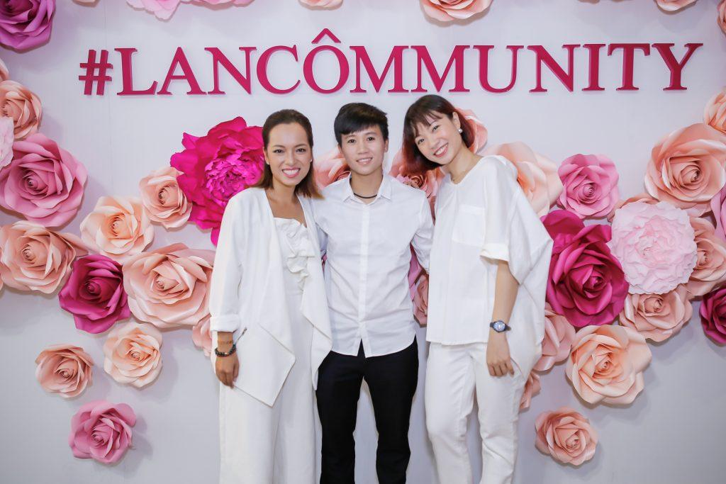 Từ trái qua phải: nữ doanh nhân trẻ Hà Lâm; cầu thủ bóng đá nữ Tuyết Dung; diễn viên múa Tạ Thùy Chi