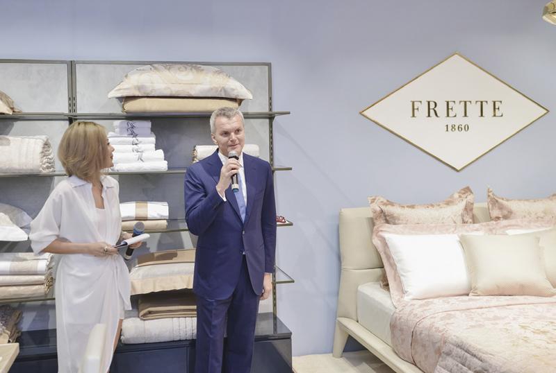 CEO toàn cầu của Frette – ông Filippo Arnaboldi chia sẻ tại buổi giới thiệu bộ sưu tập Xuân Hè 2018 tại Việt Nam