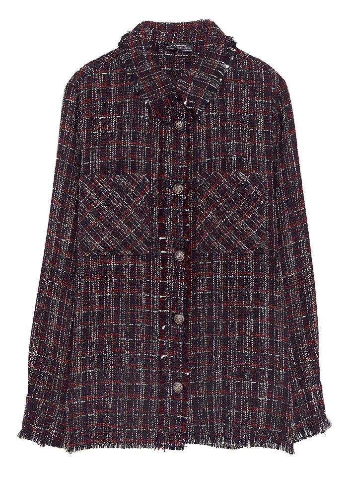 Áo khoác vải tweed, Zara