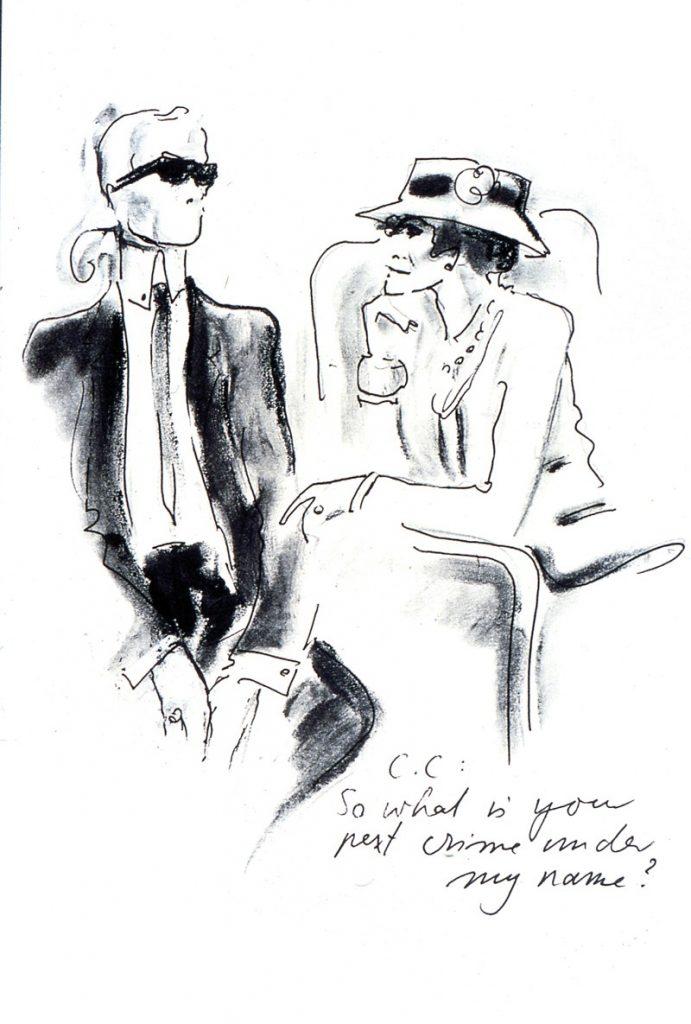bức vẽ minh họa - Nhà thiết kế Karl Lagerfeld