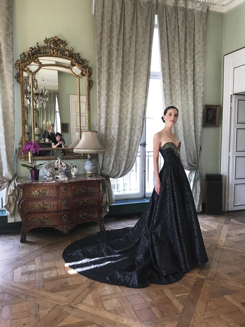 Misia Sert diện đầm dạ hội đen của Eymeric François