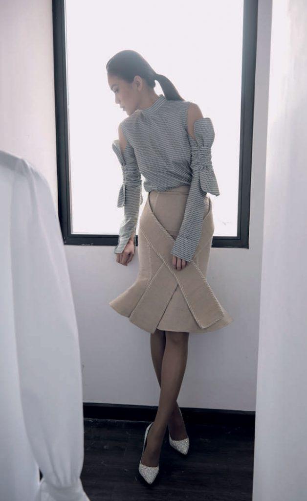 nhà thiết kế Lý Quí Khánh và người mẫu Mâu Thủy