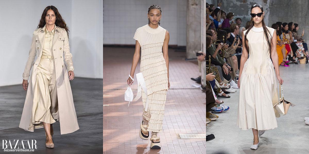 Xu hướng thời trang 2019 tràn ngập những thiết kế với bảng màu trung tính